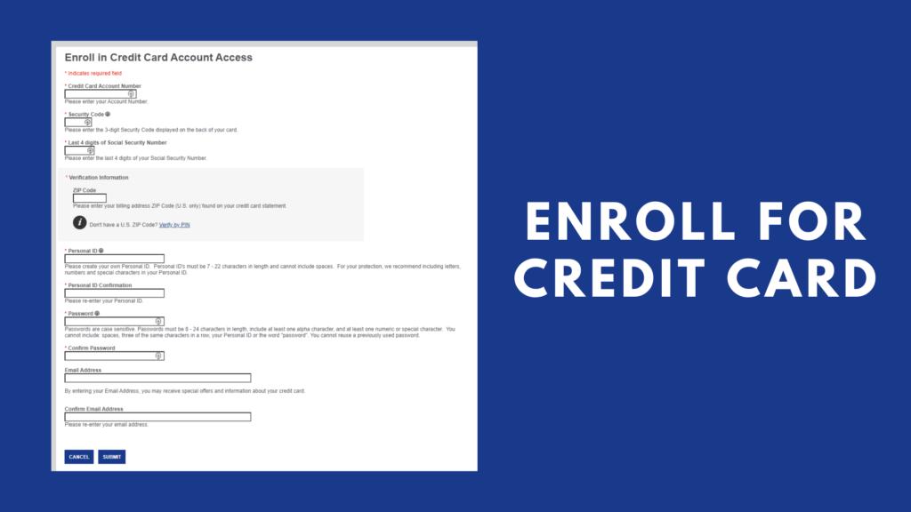enroll new credit card