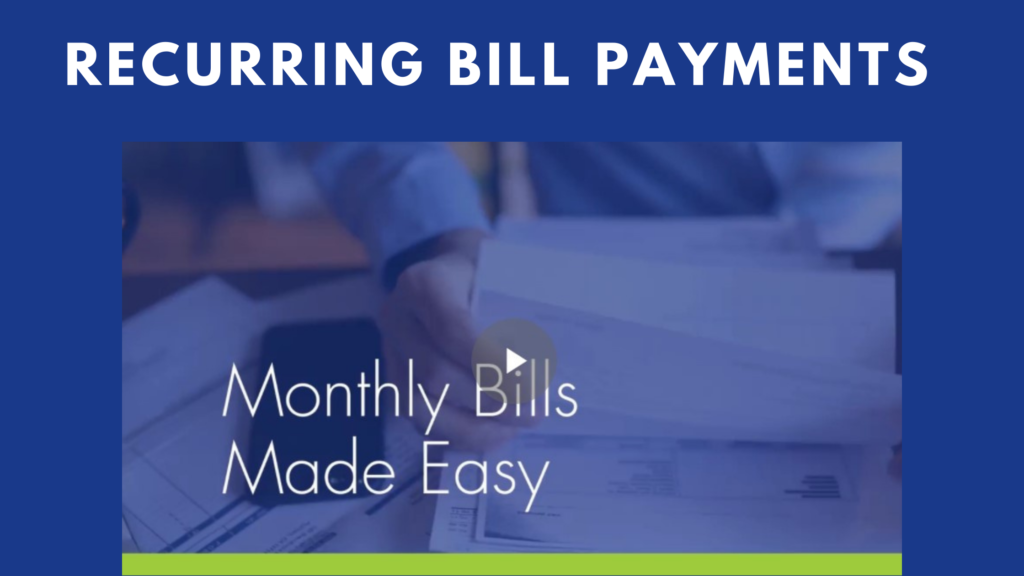 recurring bill payments