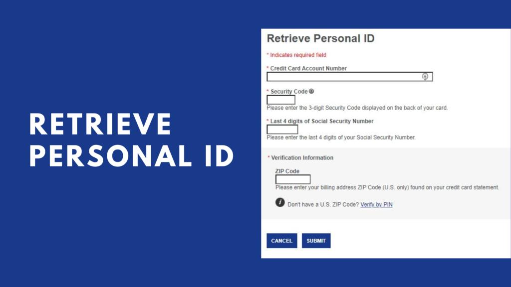retrieve personal id