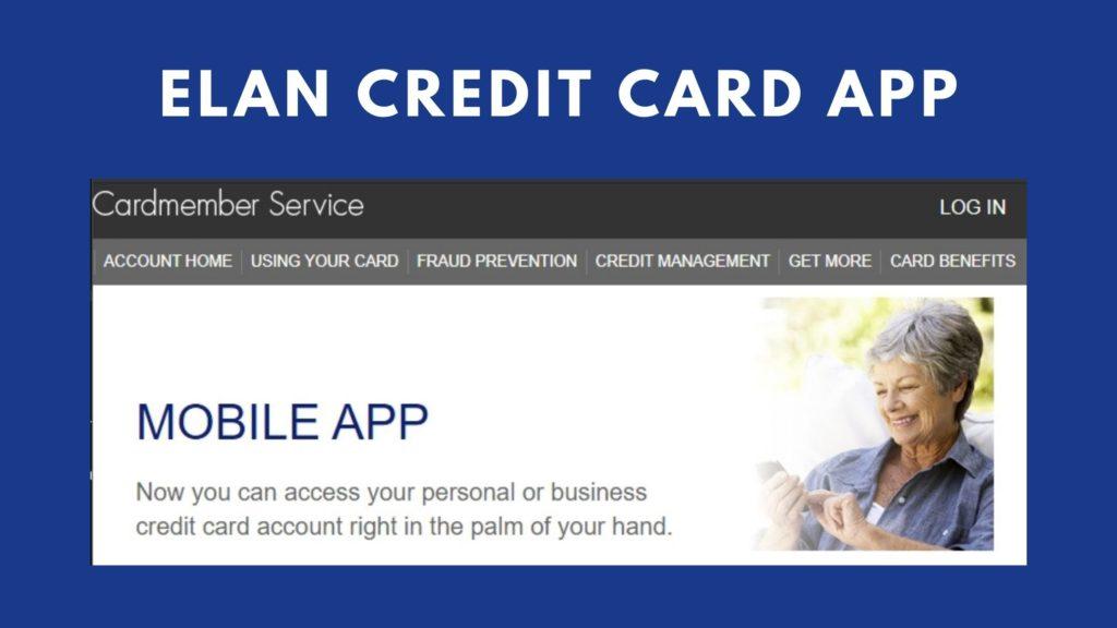 elan credit card app