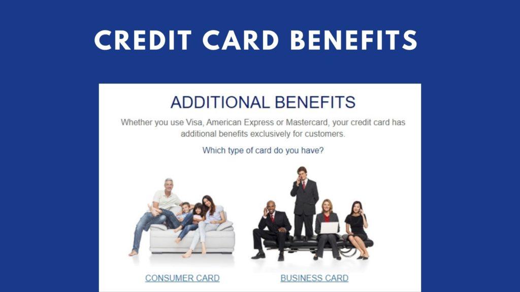 credit card benefits