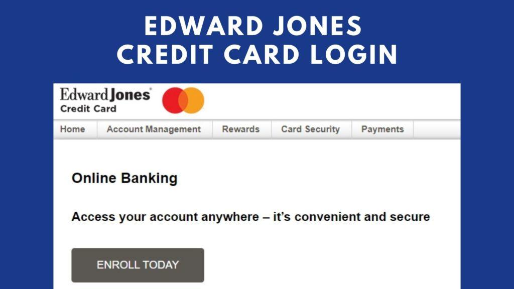 edward jones credit card login