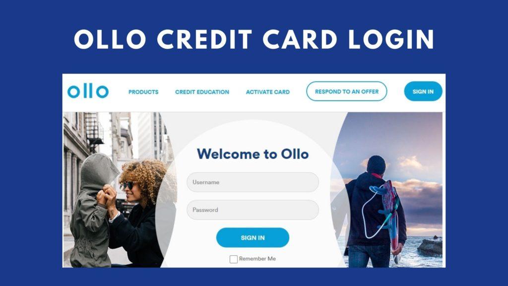 ollo credit card login