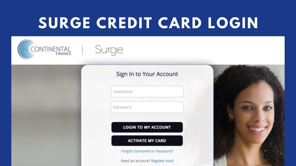 surge credit card login